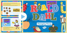 Roald Dahl Themed Year 2 Managing Money Incidental Welsh PowerPoint