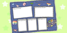 Book Review Writing Frame to Support Teaching on Aliens Love Underpants
