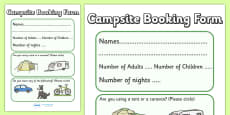 Campsite Booking Form