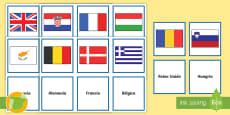 Tarjetas de emparejar: Las banderas de Europa