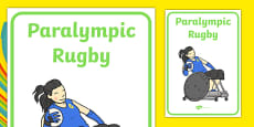 The Paralympics Rugby Display Posters