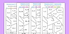 Kolorowanki Mnożenie przez 2 5 i 10
