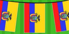 Ecuador A4 Flag Bunting