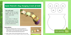 * NEW * Saint Patrick's Day Hanging Crock of Gold Craft Instructions