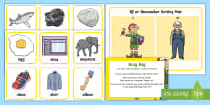 Initial Sounds Elf and Shoemaker e and sh Busy Bag Prompt Card and Resource Pack