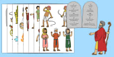 Life of Moses Story Cut Outs