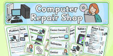 Computer Repair Shop Role Play Pack