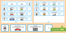 Everyday Sentence Building Cards EAL Translation  - الإنجليزية / العربية