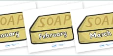 Months of the Year on Soap