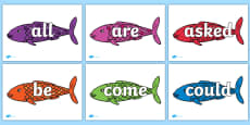 Tricky Words on Fish to Support Teaching on The Rainbow Fish