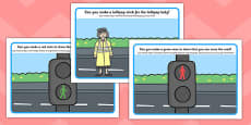 Road Safety Playdough Mats Polish Translation