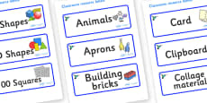 Hummingbird Themed Editable Classroom Resource Labels