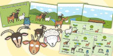The Three Billy Goats Gruff Story Sack Resource Pack