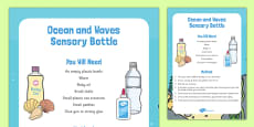 Ocean and Waves Sensory Bottle