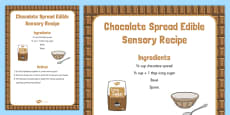 Chocolate Spread Edible Sensory Recipe