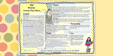Lesson Plan Ideas KS2 to Support Teaching on Matilda
