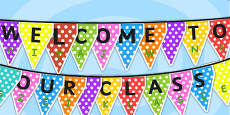 Welcome to Our Class Display Bunting Polish Translation