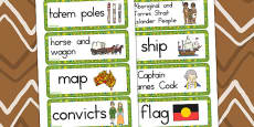 Australia - Aboriginal and Torres Strait Islander People Word Cards