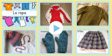 Clothing Photo PowerPoint Spanish