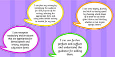 2014 Curriculum UKS2 Years 5 and 6 Writing Assessment I Can Speech Bubbles