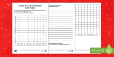 Create Your Own Christmas Grid Picture Activity Sheet