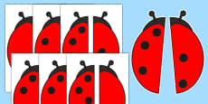 Ladybird Spot Number Bonds to 5 Matching Activity