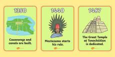 Aztec Timeline Display Posters