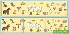 Pets Display Banner
