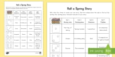 Spring Roll a Story Activity