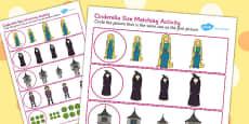 Rapunzel Size Matching Worksheets