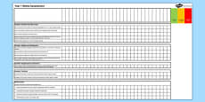 2014 Curriculum Years 1 to 6 Maths Assessment Spreadsheets