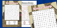 Stone Soup Wordsearch