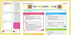 Home Corner Continuous Provision Plan Posters Reception FS2