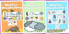 Australia - Winter Vocabulary Poster Temperate