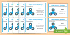 * NEW * KS2 Fidget Spinner SPaG Challenge Cards