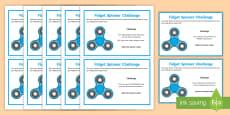 * NEW * KS2 Fidget Spinner SPaG Challenge Cards