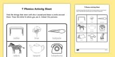 t Phonics Activity Sheet