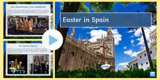 Easter in Spain Information and Quiz PowerPoint