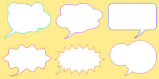'Think It' Thought Bubbles And 'Say It' Speech Bubbles