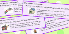 Building Idioms Multiple Choice Cards