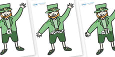 100 High Frequency Words on Leprechauns