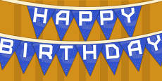 Space Themed Happy Birthday Bunting