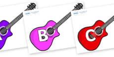 A-Z Alphabet on Guitars