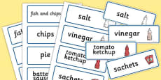 Fish And Chip Shop Role Play Word Cards