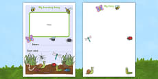 EYFS My Learning Journey Front Cover Minibeast Themed