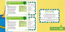 Floating Dinosaur Rescue STEM Activity and Prompt Card Pack