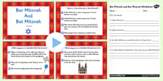 Judaism Bar Mitzvah and Bat Mitzvah Information PowerPoint