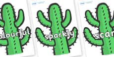 Wow Words on Cactus