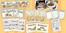 Welsh Language Cafe Role Play Pack