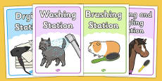 Pet Groomers Role Play Posters
